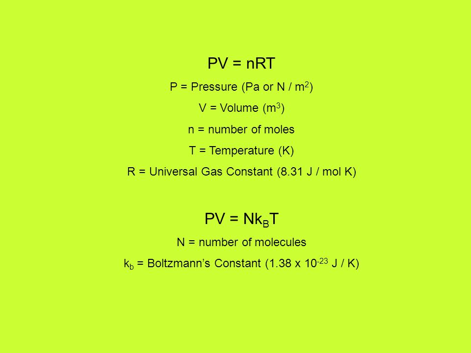 Temperature And Kinetic Theory Ppt Download