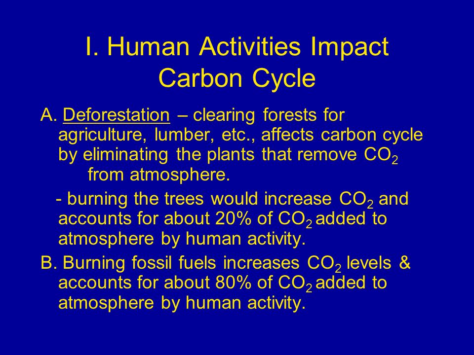 I. Human Activities Impact Carbon Cycle