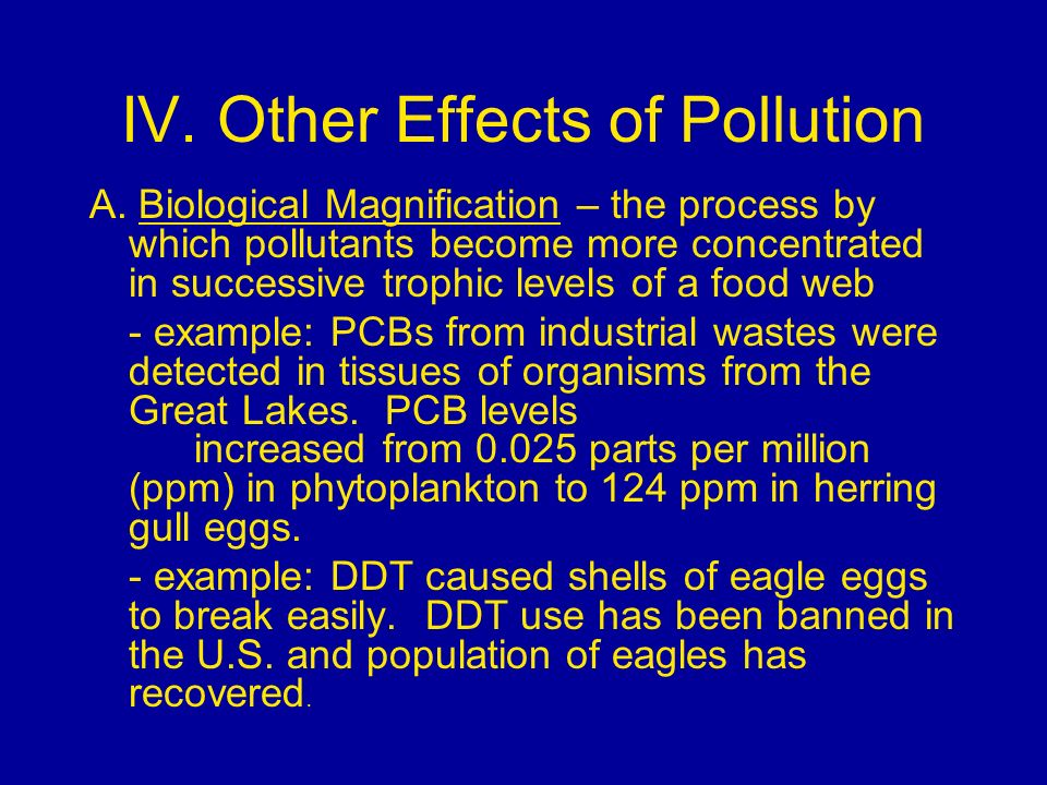 IV. Other Effects of Pollution