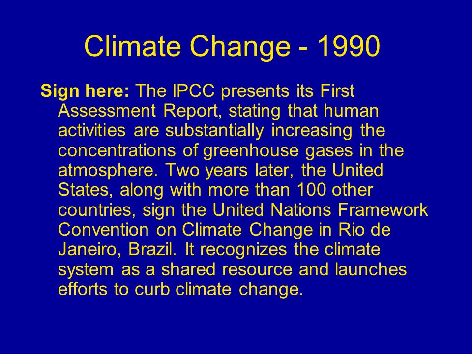 Climate Change - 1990