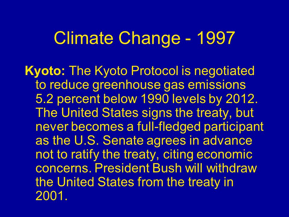 Climate Change - 1997