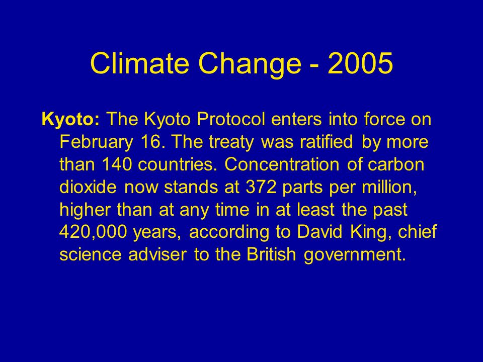 Climate Change - 2005