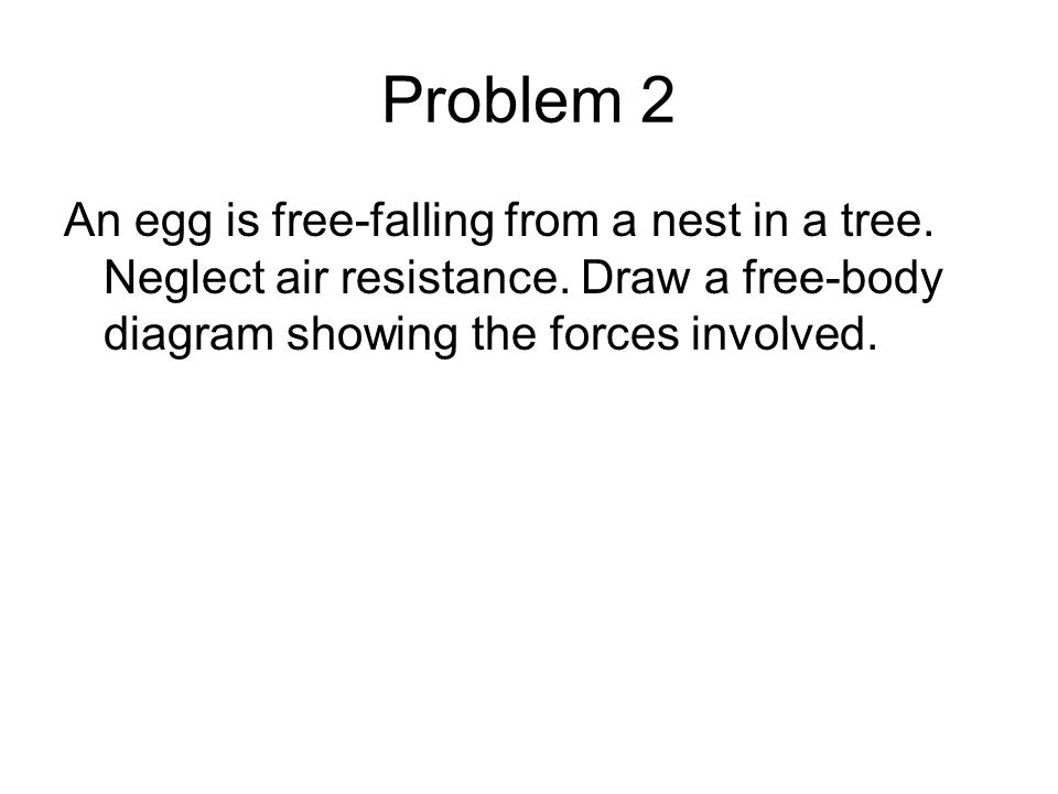 Problem 2 An egg is free-falling from a nest in a tree.