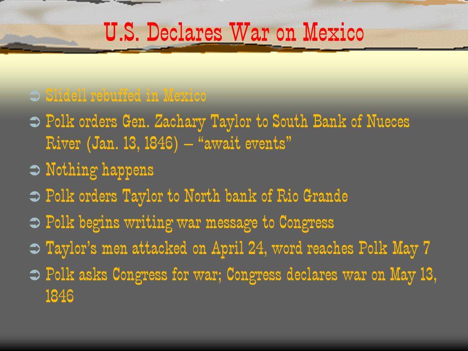 U.S. Declares War on Mexico