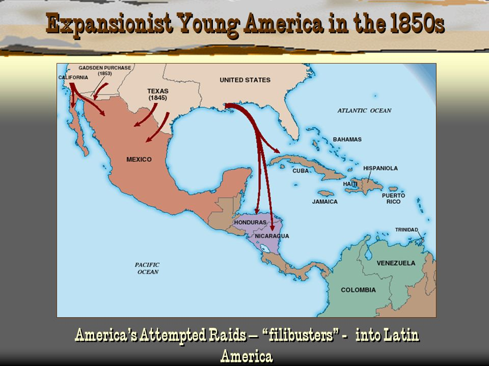 Expansionist Young America in the 1850s