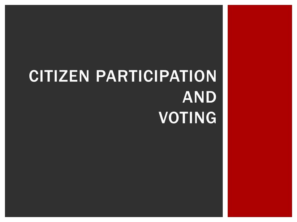 Citizen participation and voting