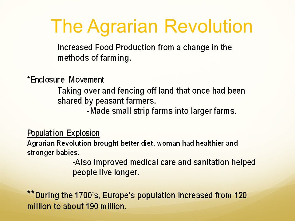 The Agrarian Revolution