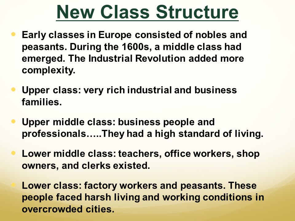 "the structure of the middle class ""by contrast, the family structure of lower class negroes is highly unstable, and in   the well-educated and upper-middle-class parents who are still forming."