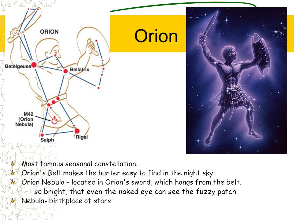 Orion so bright, that even the naked eye can see the fuzzy patch