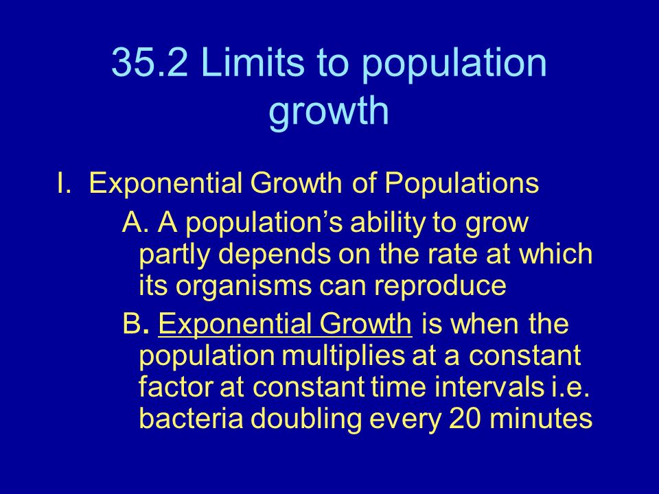 35.2 Limits to population growth
