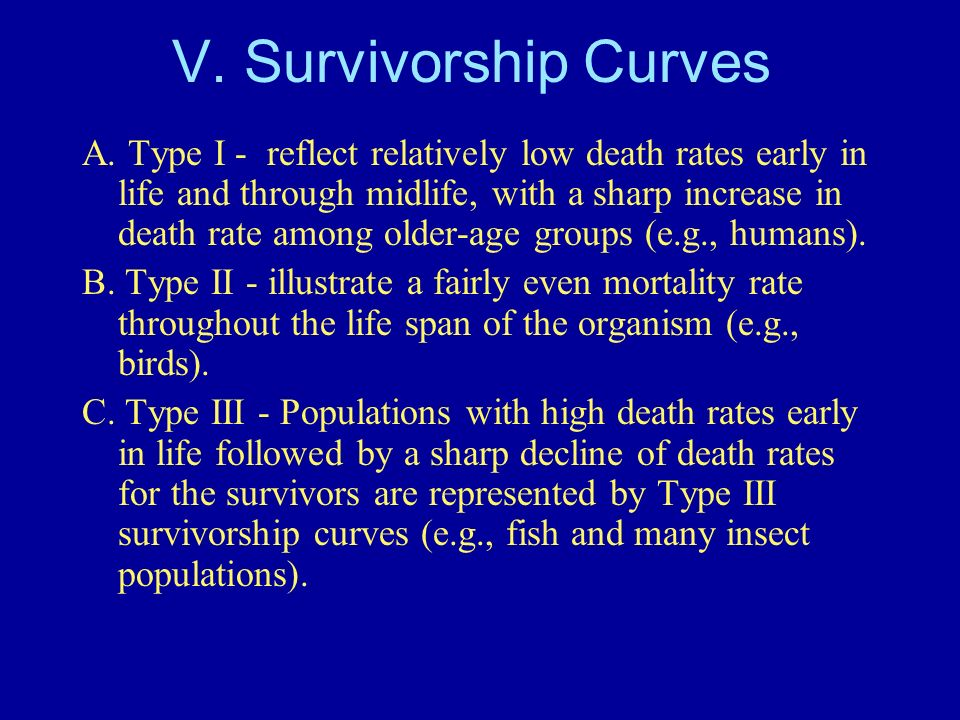 V. Survivorship Curves