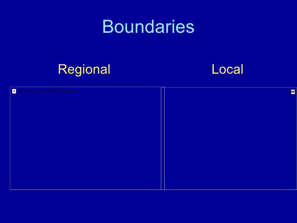 Boundaries Regional Local