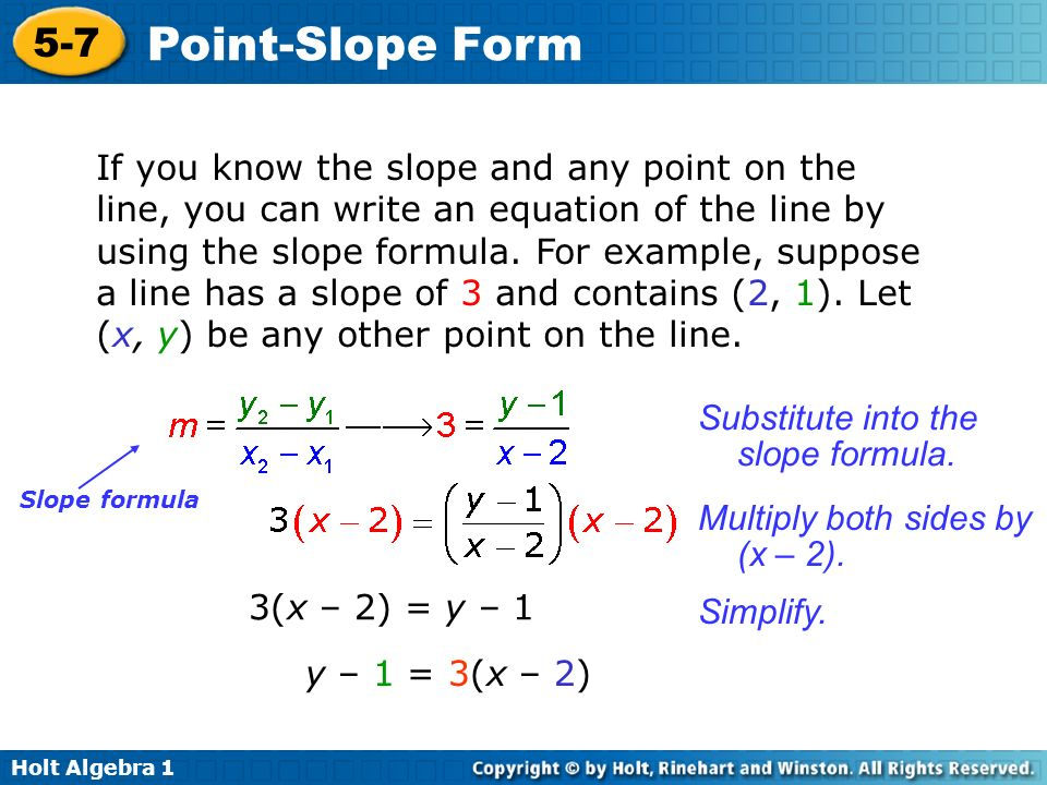 Substitute into the slope formula.