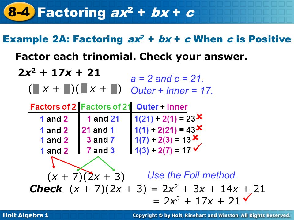 Worksheets Factoring Trinomials Of The Form Ax2 Bx C Worksheet factoring trinomials of the form ax2 bx c worksheet answers x2 samsungblueearth