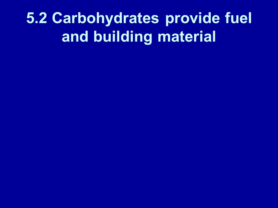 5.2 Carbohydrates provide fuel and building material