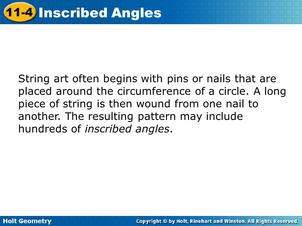 String art often begins with pins or nails that are placed around the circumference of a circle.