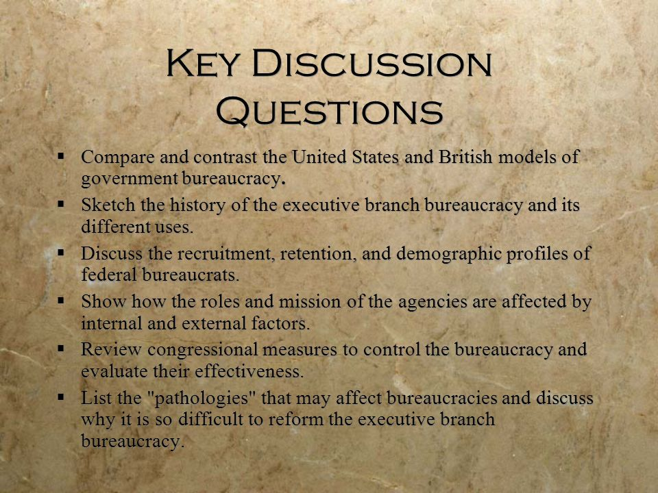 Key Discussion Questions