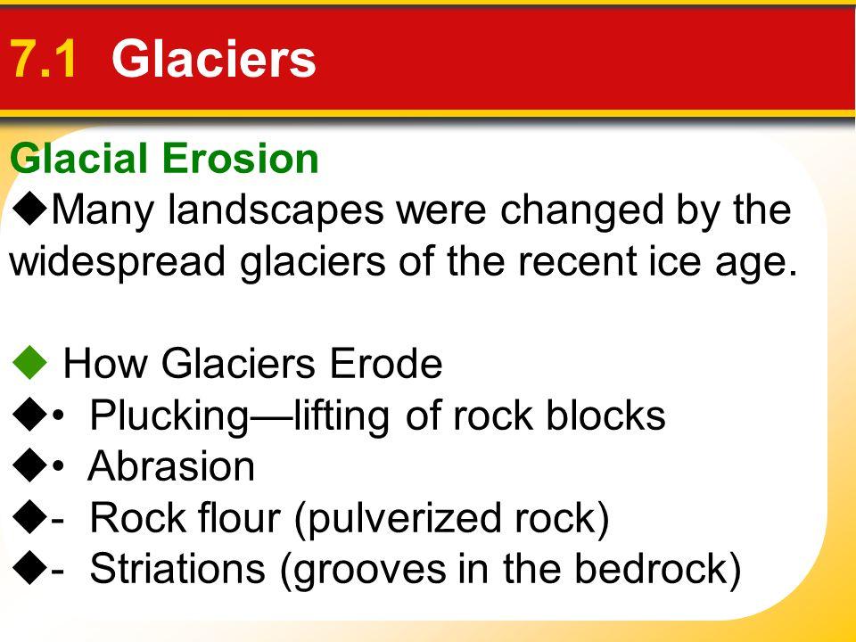 7.1 Glaciers Glacial Erosion