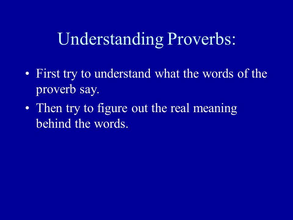 Understanding Proverbs:
