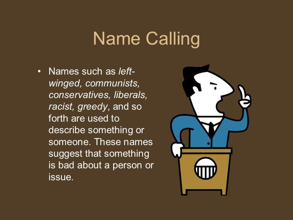 Name Calling