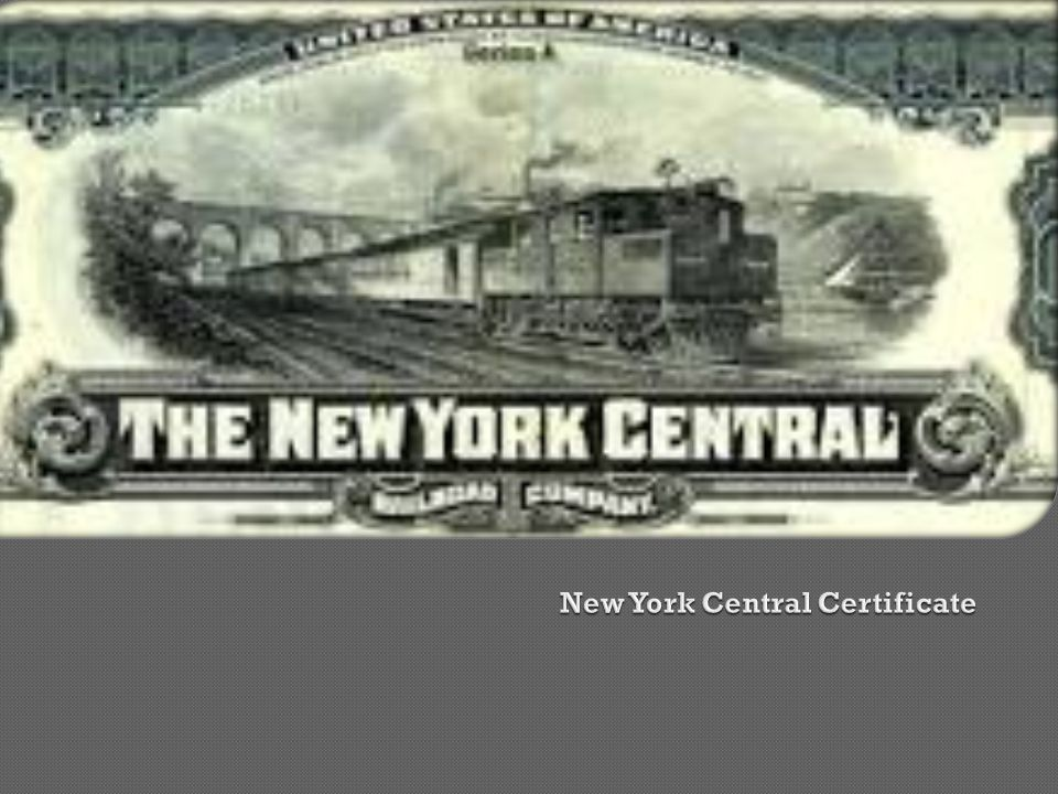 New York Central Certificate