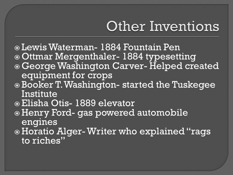 Other Inventions Lewis Waterman- 1884 Fountain Pen