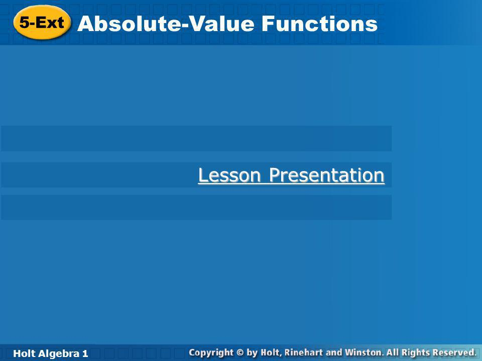 Absolute-Value Functions