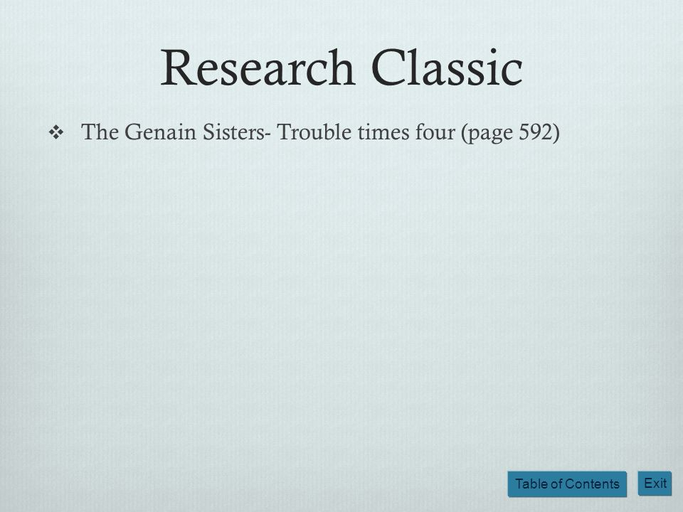 Research Classic The Genain Sisters- Trouble times four (page 592)