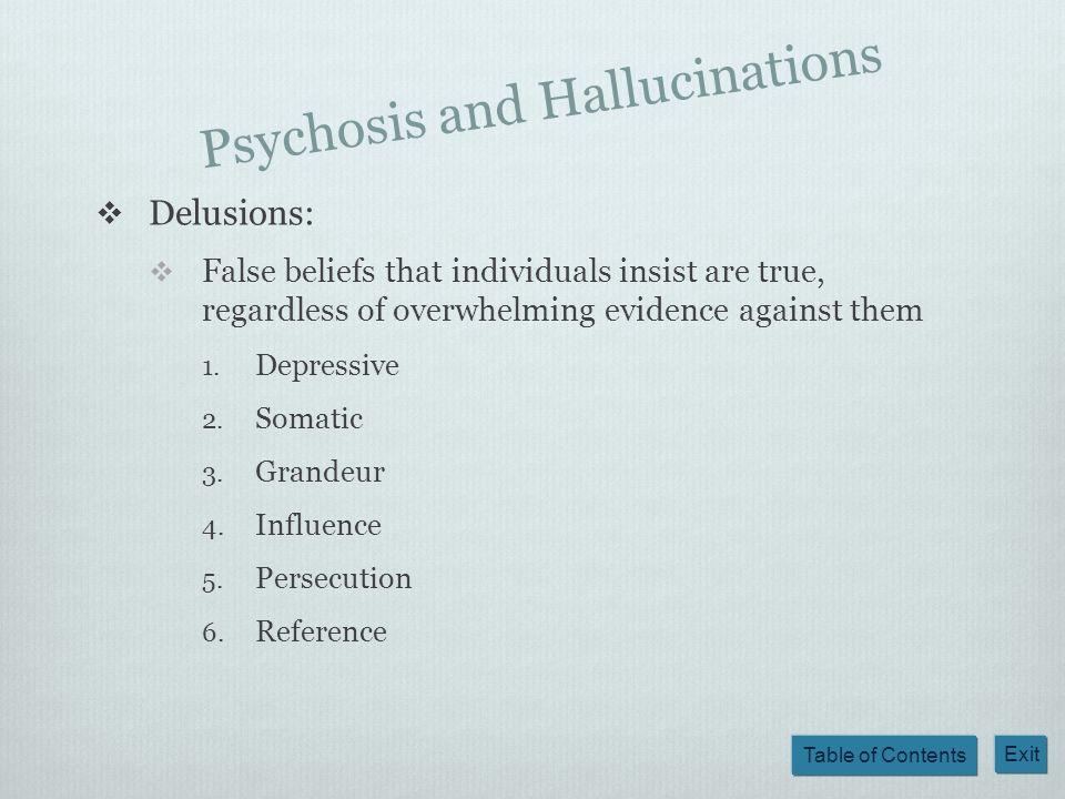 Psychosis and Hallucinations