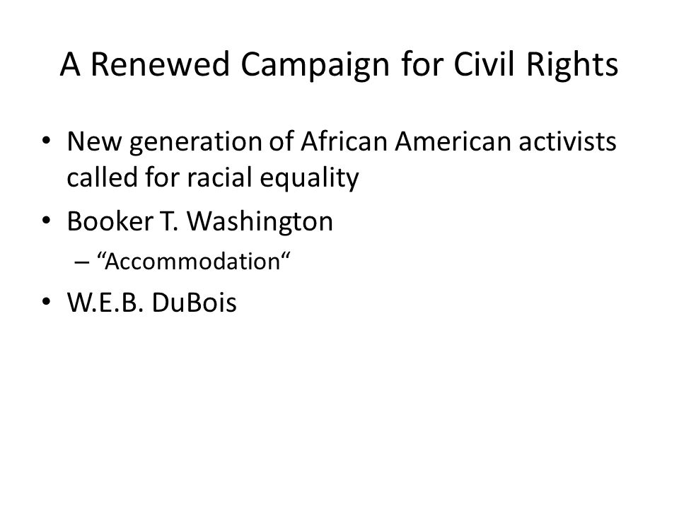 A Renewed Campaign for Civil Rights