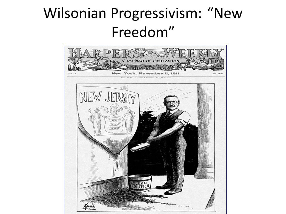 Wilsonian Progressivism: New Freedom