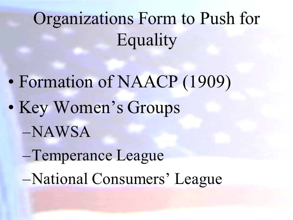 Organizations Form to Push for Equality