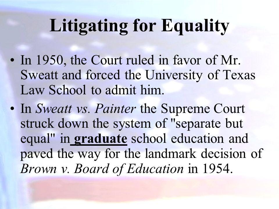 Litigating for Equality