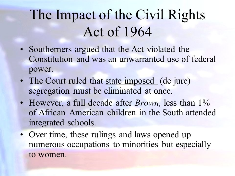 The Impact of the Civil Rights Act of 1964