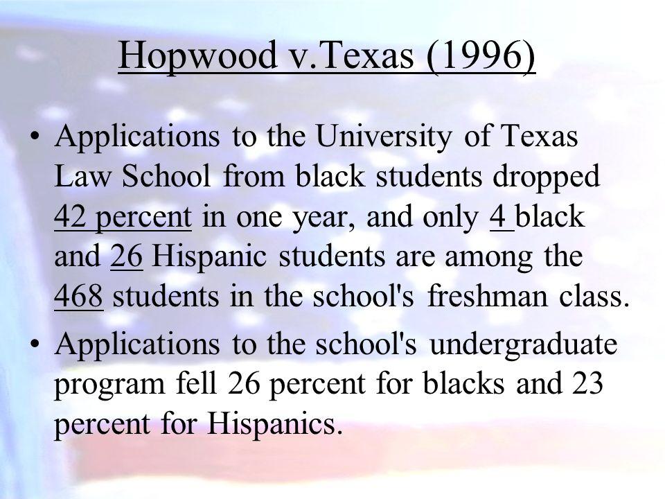 Hopwood v.Texas (1996)