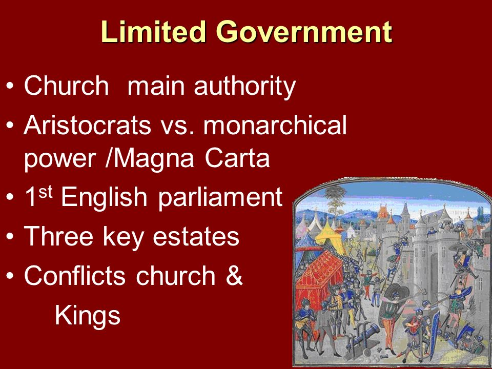 Limited Government Church main authority
