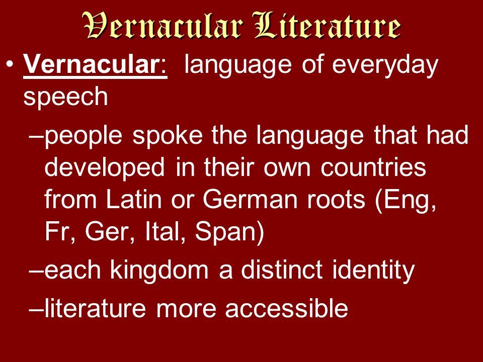 Vernacular Literature