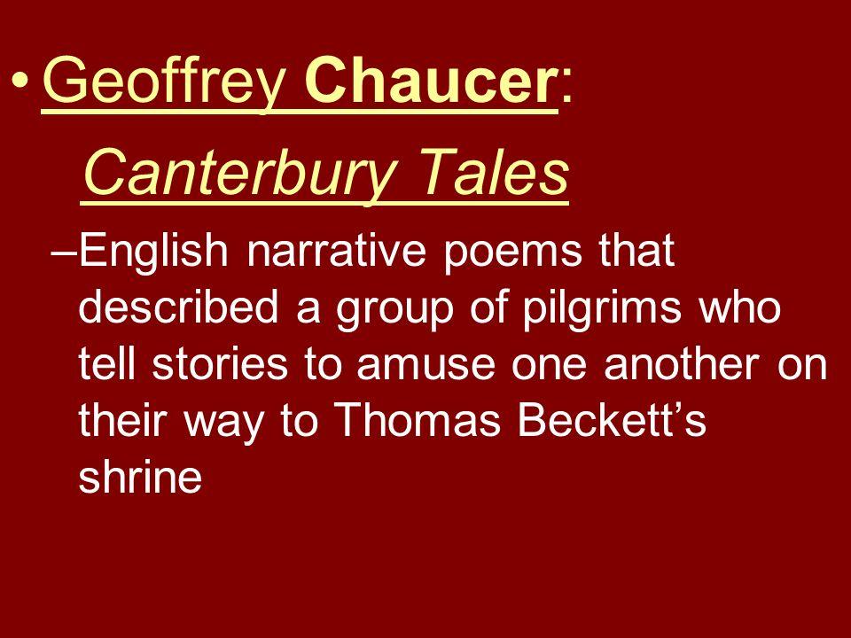 Geoffrey Chaucer: Canterbury Tales