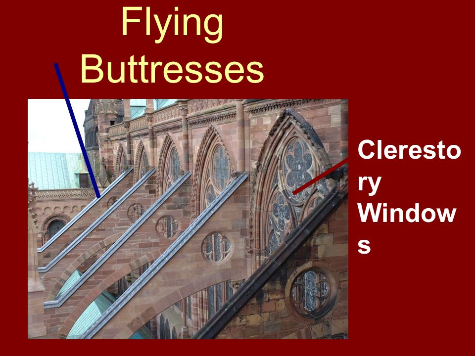 Flying Buttresses Clerestory Windows