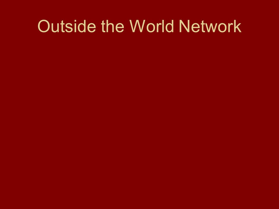 Outside the World Network