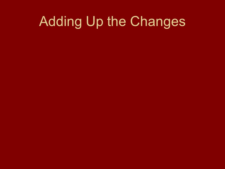 Adding Up the Changes