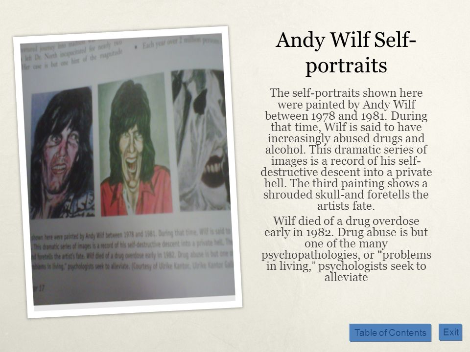 Andy Wilf Self-portraits
