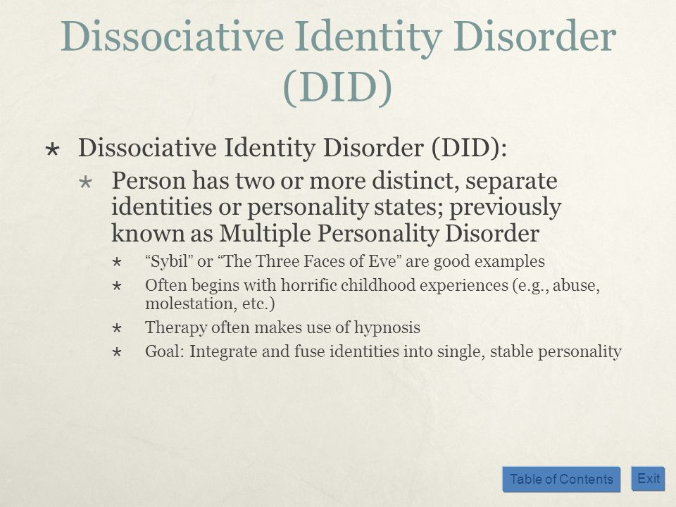 the symptoms of dissociative identity disorder in the movie fight club Accuracy of dissociative identity disorder in fight printing: club john arias-dissociative identity disorder-pace university  symptoms dsm-5.