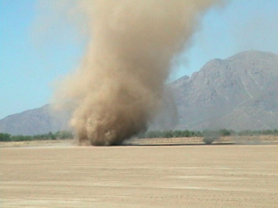 Dust Devils Rotating winds Not associated with thunderstorms