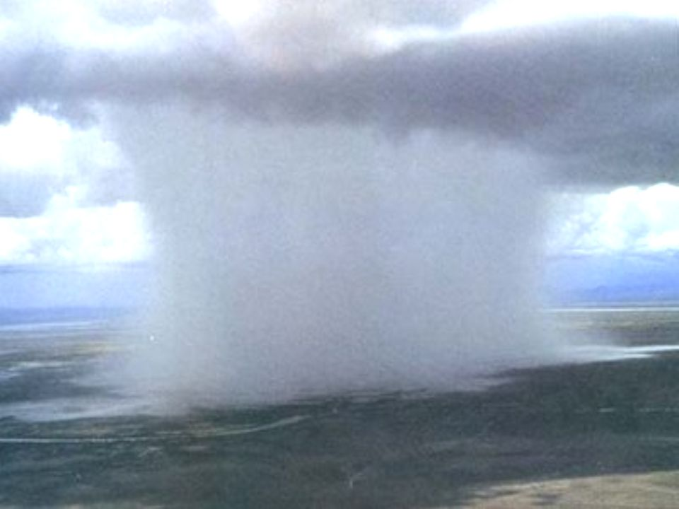 Microbursts Small downdrafts Make winds More than 280 km/h