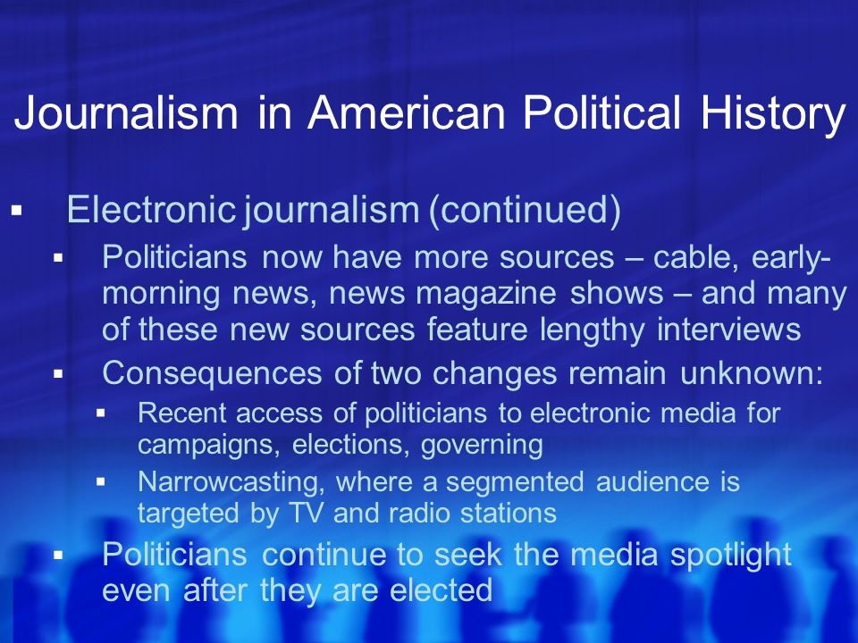 Journalism in American Political History