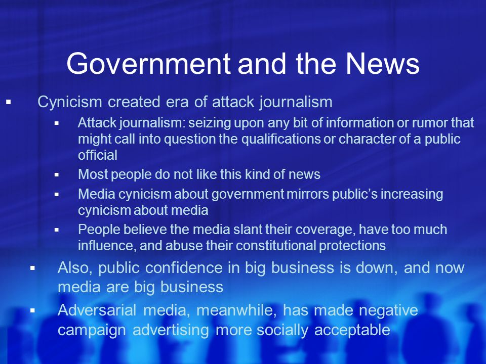 Government and the News