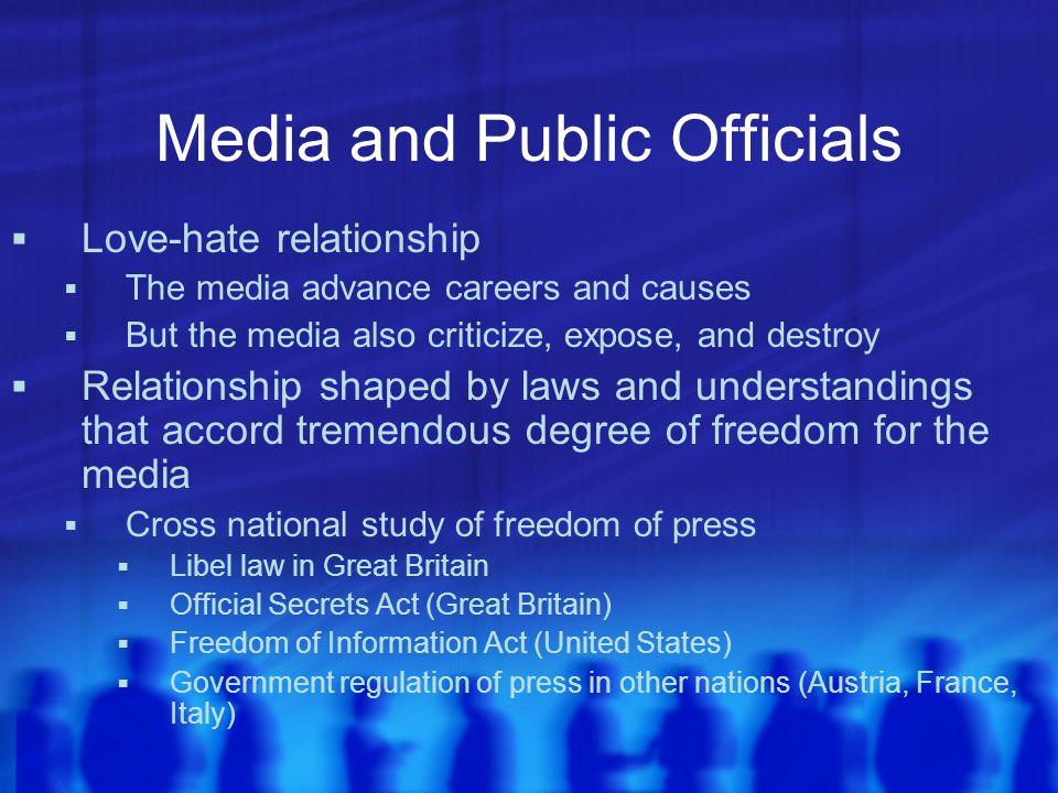 Media and Public Officials