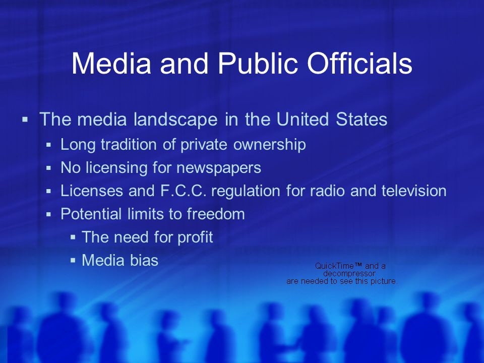 Media and Public Officials