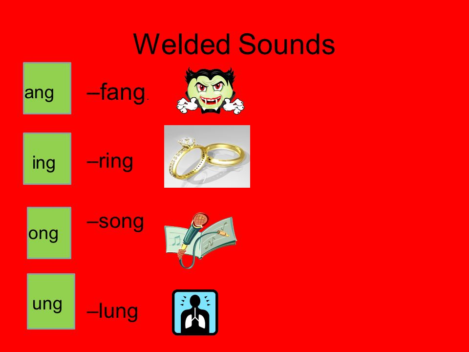 Welded Sounds fang. ring song lung ang ing ong ung